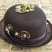 "Субкультуры handmade. Livemaster - original item Cylinder (Kettle) Hat Steampunk  ""MANUFACTURE STIMPANK COMPANY"". Handmade."