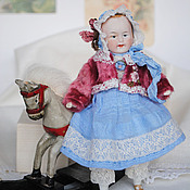 Винтаж ручной работы. Ярмарка Мастеров - ручная работа Антикварная кукла Little Rose. Handmade.