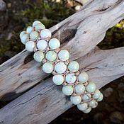 handmade. Livemaster - original item Lemon chrysoprase. Bracelet braided. Handmade.