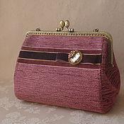 Сумки и аксессуары handmade. Livemaster - original item Handbag cosmetic bag with clasp    Amethyst. Handmade.