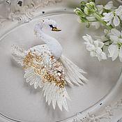 Украшения handmade. Livemaster - original item Brooch Swan