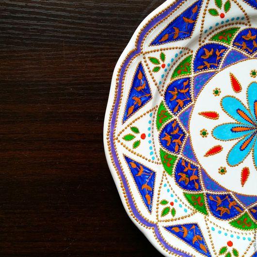 Декоративная посуда ручной работы. Ярмарка Мастеров - ручная работа. Купить Новая тарелочка. Handmade. Фиолетовый, тарелка сувенирная