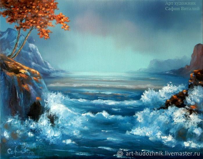 Морской пейзаж картина Одинокие сердца, Картины, Санкт-Петербург,  Фото №1