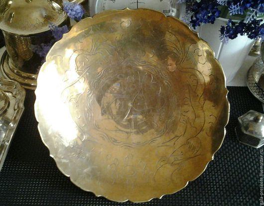 Винтажная посуда. Ярмарка Мастеров - ручная работа. Купить -10% Старинное латунное блюдо, Англия, 1930е, винтажная посуда, винтаж. Handmade.