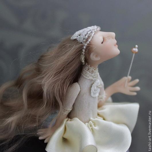 Миниатюра ручной работы. Ярмарка Мастеров - ручная работа. Купить Феечка Агнес (миниатюрная интерьерная кукла). Handmade. Миниатюра, талисман
