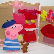Куклы и игрушки ручной работы. Ярмарка Мастеров - ручная работа Наряды для свинки Пеппы. Handmade.