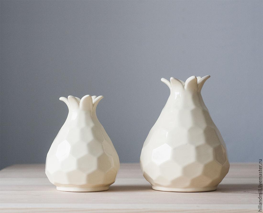 Vase 'Ivory Astra' volume 1,4 l, Vases, Vyazniki,  Фото №1