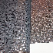 Материалы для творчества ручной работы. Ярмарка Мастеров - ручная работа кожа МРС серо-синяя. Handmade.