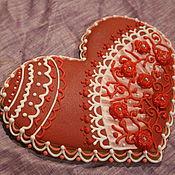 Подарки к праздникам ручной работы. Ярмарка Мастеров - ручная работа имбирное пряничное сердце. Handmade.
