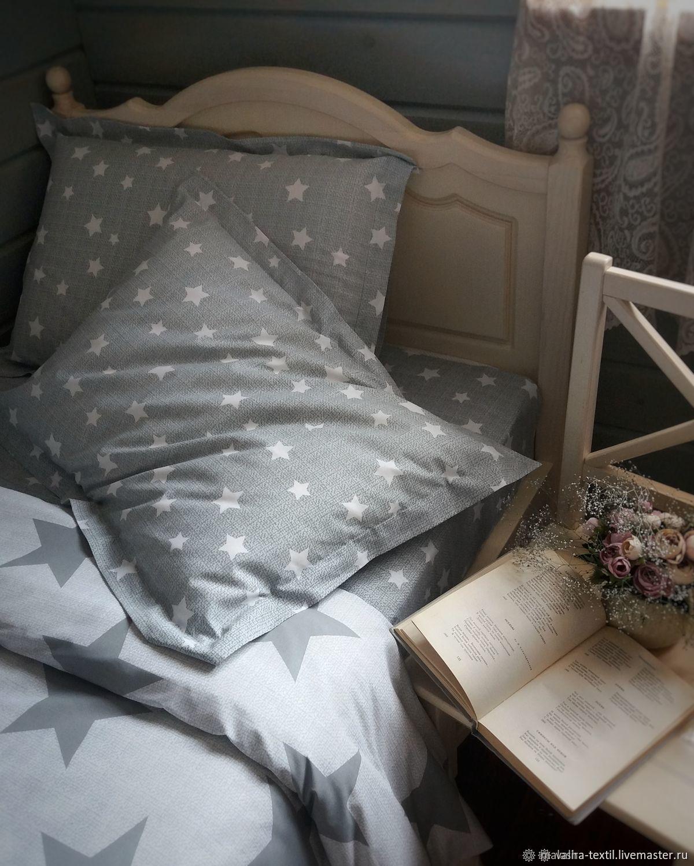 Текстиль, ковры ручной работы. Ярмарка Мастеров - ручная работа. Купить Комплект постельного белья 'Орион'. Handmade. Подарок, текстиль