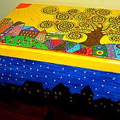 """Для дома и интерьера ручной работы. Ярмарка Мастеров - ручная работа Шкатулка """"Древо Счастья и Радости"""". Handmade."""