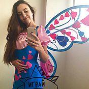 Одежда ручной работы. Ярмарка Мастеров - ручная работа Костюм Фея Винкс Блум дизайн с сердечками. Handmade.