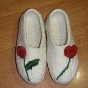 Обувь ручной работы. Ярмарка Мастеров - ручная работа Валяные тапочки,34 размер. Handmade.