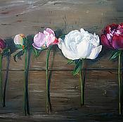 """Картины и панно handmade. Livemaster - original item Oil Painting on canvas """"Peony series"""". Handmade."""