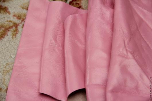 Шитье ручной работы. Ярмарка Мастеров - ручная работа. Купить №33 Розовая.Овчина.1090 грамм.0.9-1 мм.Натуральная кожа. Handmade.