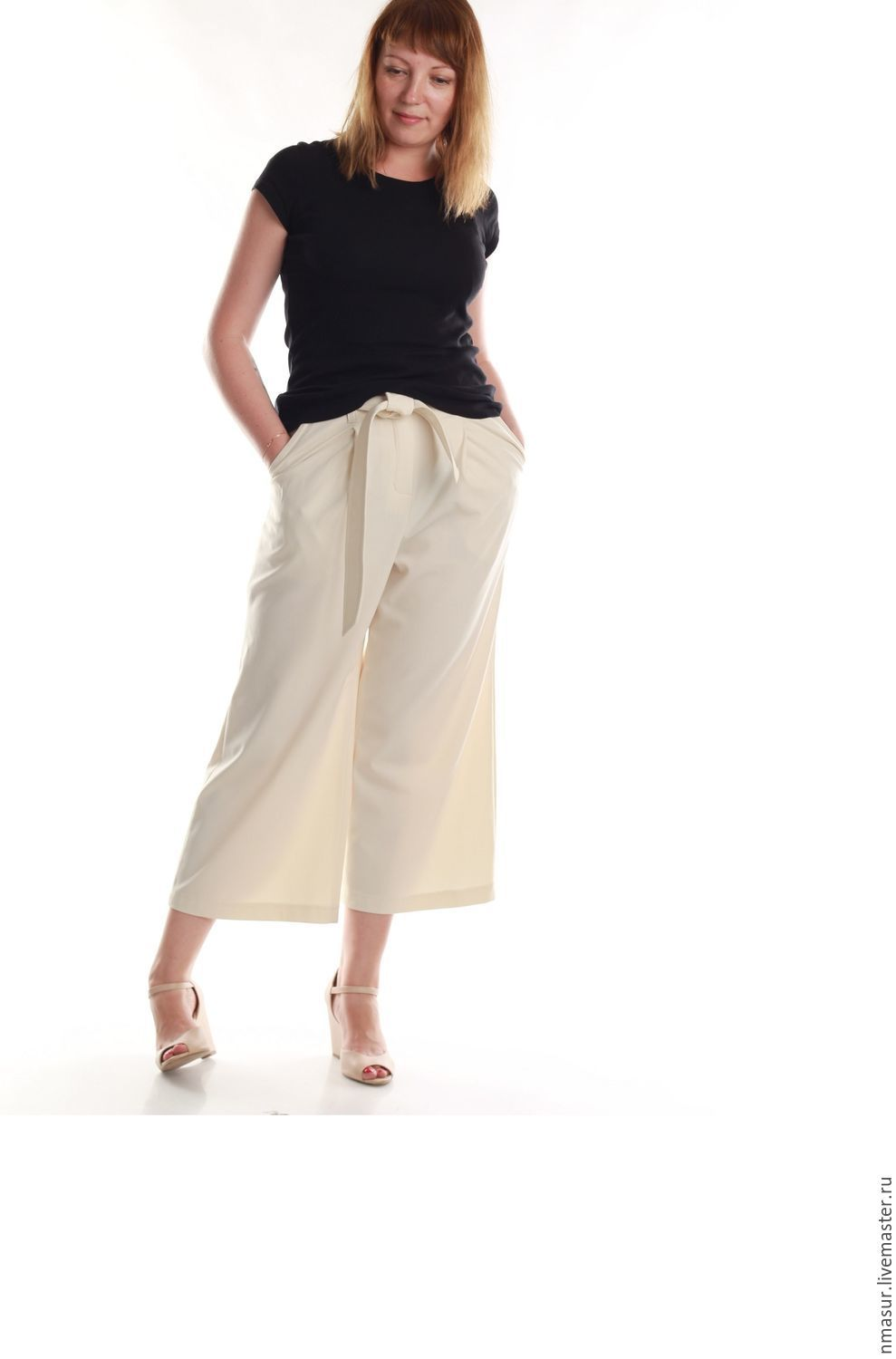 Trousers Culottes milk