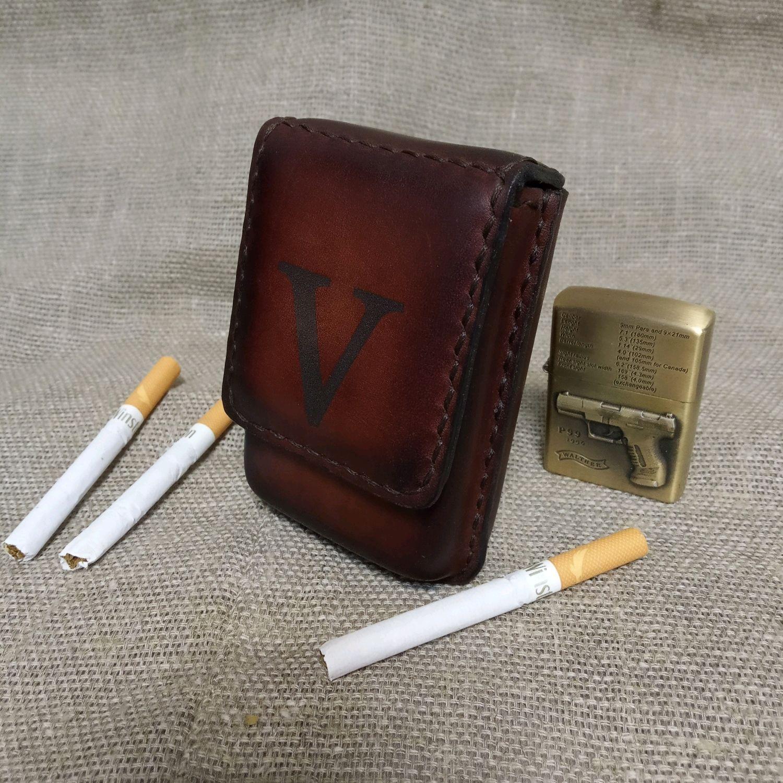 Портсигар на 20 сигарет с зажигалкой купить табак для сигарет развесной купить в самаре