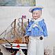 Винтажные куклы и игрушки. Антикварная кукла Мальчик-морячок. (Sailor boy). Мария Кудрина. Интернет-магазин Ярмарка Мастеров. Моряк