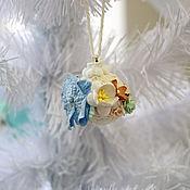 Подарки к праздникам ручной работы. Ярмарка Мастеров - ручная работа Маленький новогодний шар в стиле шебби. Handmade.