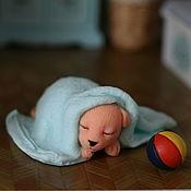Мыло ручной работы. Ярмарка Мастеров - ручная работа Сувенирное мыло Щенок в полотенце. Handmade.