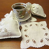 "Для дома и интерьера handmade. Livemaster - original item Sachets and napkins ""Danish embroidery"". Handmade."