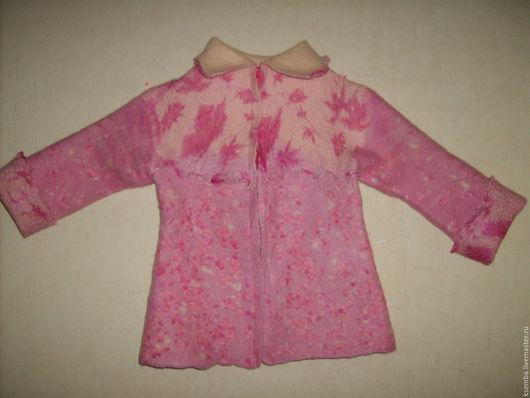 Одежда для девочек, ручной работы. Ярмарка Мастеров - ручная работа. Купить Кофта валяная. Handmade. Розовый, валяная кофта
