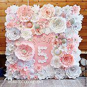 Свадебный салон ручной работы. Ярмарка Мастеров - ручная работа Фотозона из бумажных цветов. Handmade.