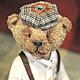 Мишки Тедди ручной работы. Ярмарка Мастеров - ручная работа. Купить Мишка в кепке. Handmade. Бежевый, мишка в кепке