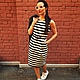 """Платья ручной работы. Ярмарка Мастеров - ручная работа. Купить SALE Платье """"Полосатый рейс"""". Handmade. Платье в полоску"""