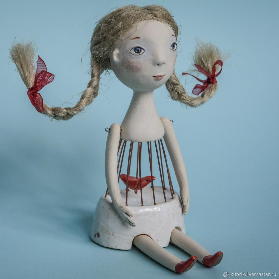 """Кукла """"Моё сердце - маленькая птичка"""", Dolls, Almaty,  Фото №1"""