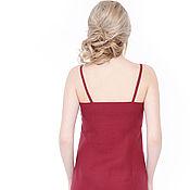 Одежда handmade. Livemaster - original item Cherry linen sundress. Handmade.