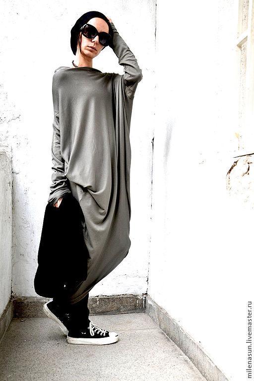 Платья ручной работы. Ярмарка Мастеров - ручная работа. Купить Платье Grey Military. Handmade. Платье, модная одежда