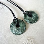 Украшения handmade. Livemaster - original item Serafinite pendant. Handmade.