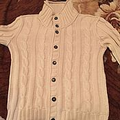 Одежда ручной работы. Ярмарка Мастеров - ручная работа Вязаная мужская кофта. Handmade.
