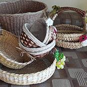 Корзины ручной работы. Ярмарка Мастеров - ручная работа Сухарницы, плетеные подносы, корзины. Handmade.