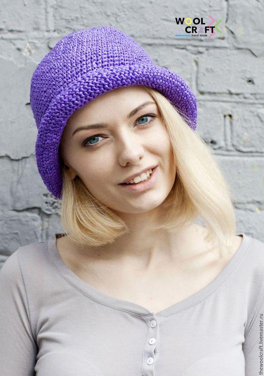 Шляпы ручной работы. Ярмарка Мастеров - ручная работа. Купить Фиолетовая летняя шляпа. Handmade. Фиолетовый, однотонный, шляпа, шляпка