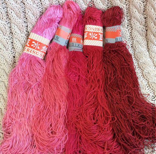 Вязание ручной работы. Ярмарка Мастеров - ручная работа. Купить Вискоза. Handmade. Нитки, вискозный шелк, нитки для вышивки