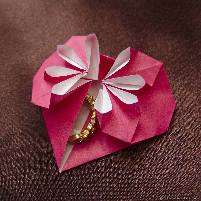 Украшение открытки оригами
