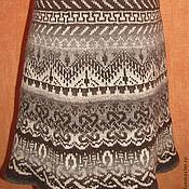 """Одежда ручной работы. Ярмарка Мастеров - ручная работа Вязаная юбка """"Жаккард"""". Handmade."""
