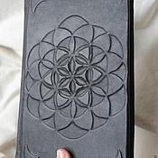 """Канцелярские товары ручной работы. Ярмарка Мастеров - ручная работа Книга для записей """"Цветок жизни"""". Handmade."""