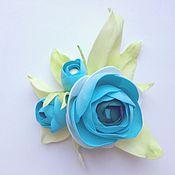 Для дома и интерьера ручной работы. Ярмарка Мастеров - ручная работа Ранункулюс голубой. Handmade.