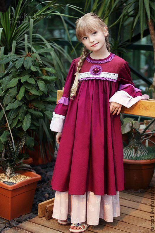 Одежда для девочек, ручной работы. Ярмарка Мастеров - ручная работа. Купить Платье нарядное для девочки. Handmade. Фиолетовый, платье бохо