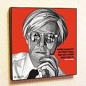 Подарки к праздникам handmade. Livemaster - original item Picture poster Andy Warhol in the style of Pop Art. Handmade.