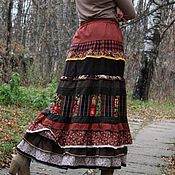 """Одежда ручной работы. Ярмарка Мастеров - ручная работа Длинная юбка бохо """"Териберка2"""". Handmade."""