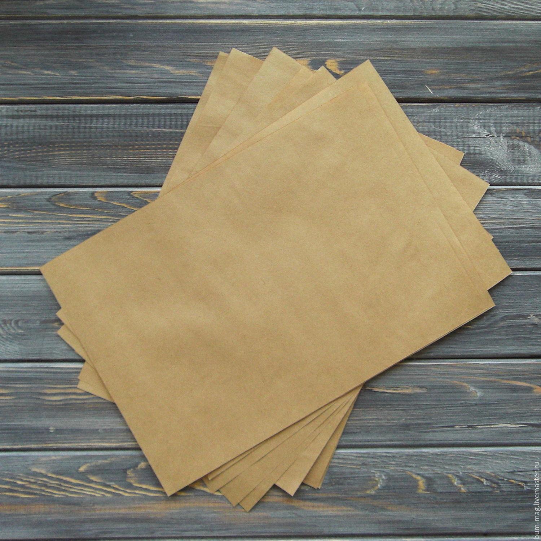 Крафт-бумага А4 (10 листов, 100 листов), Бумага, Москва,  Фото №1