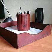 Канцелярские товары ручной работы. Ярмарка Мастеров - ручная работа Канцелярский набор из кожи. Handmade.