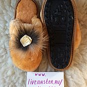 Обувь ручной работы. Ярмарка Мастеров - ручная работа Тапочки из мутона 31-32. Handmade.