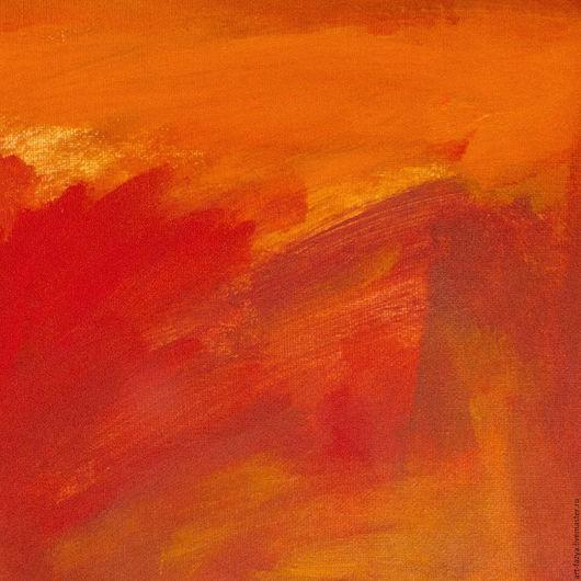 Абстракция ручной работы. Ярмарка Мастеров - ручная работа. Купить Оранжевый день. Handmade. Рыжий, картина в подарок, современная живопись