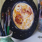 Картины и панно handmade. Livemaster - original item Moon oil painting. Handmade.