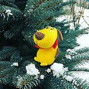 Куклы и игрушки ручной работы. Ярмарка Мастеров - ручная работа Вязанная собачка. Handmade.